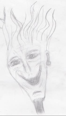 mann med flammehår