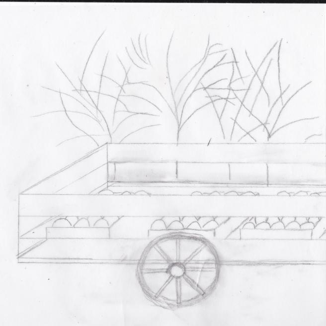 vogn med frukt